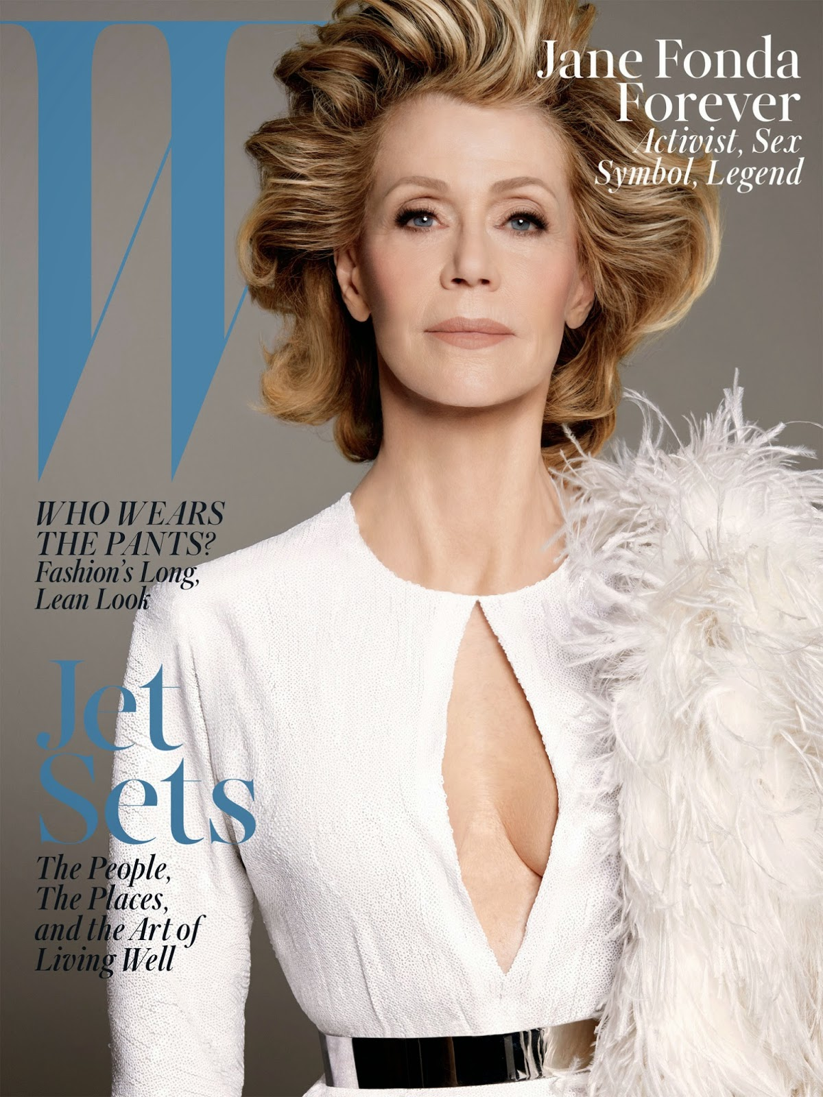 Actress @ Jane Fonda by Steven Meisel for W Magazine June/July 2015