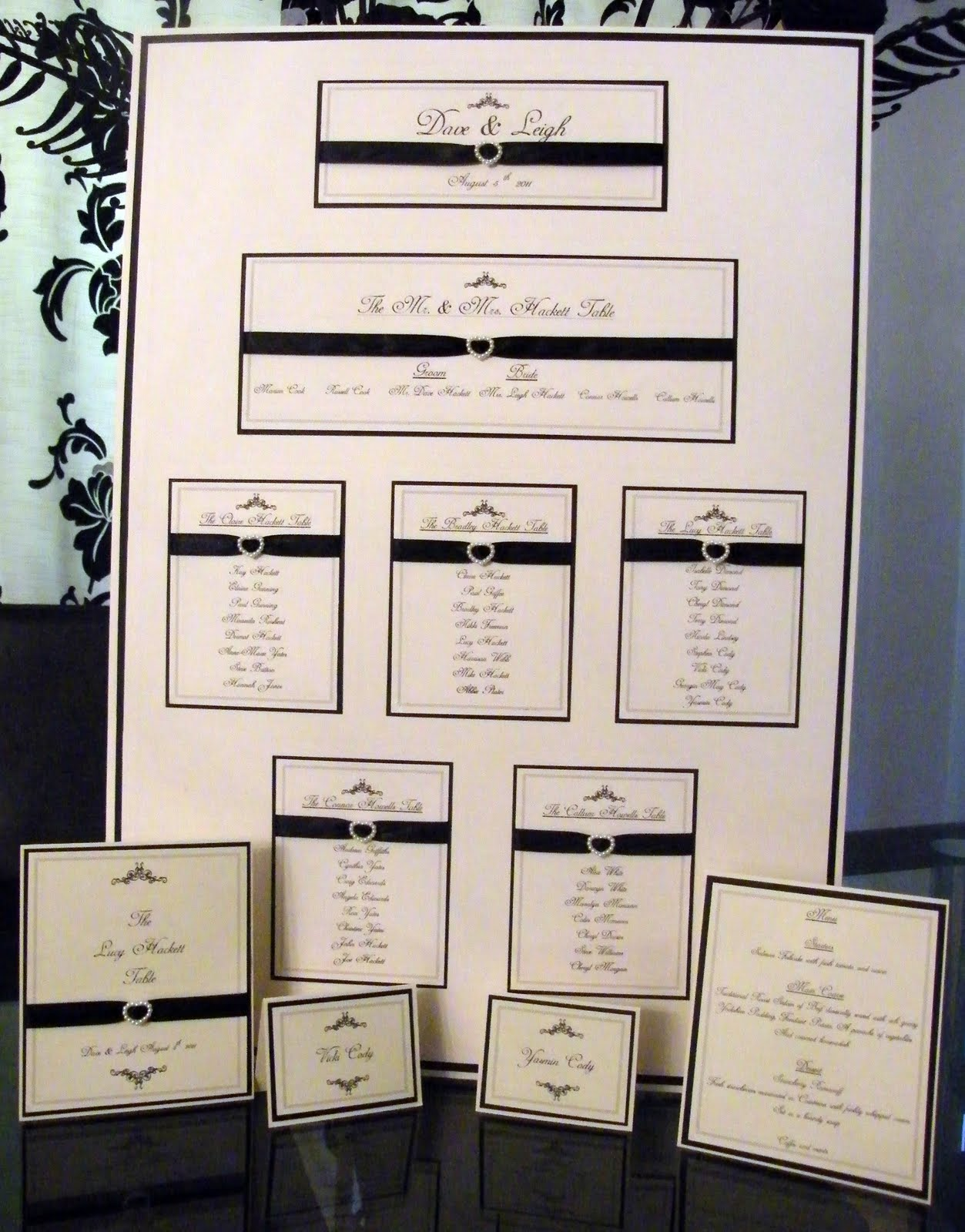 Paperlicious Oasis: Wedding table plan, menus, place cards, the ...