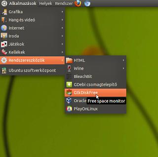GtkDiskFree alkalmazás