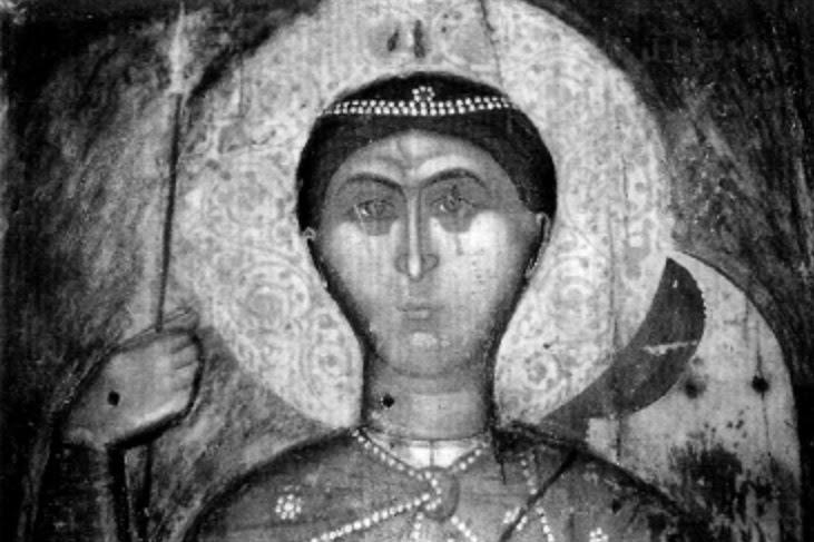"""Το υπερφυσικό και θαυματουργό βυζαντινό """"ξόανο"""" του Αγίου Γεωργίου στην Ομορφοκκλησιά Καστοριάς http://leipsanothiki.blogspot.be/"""