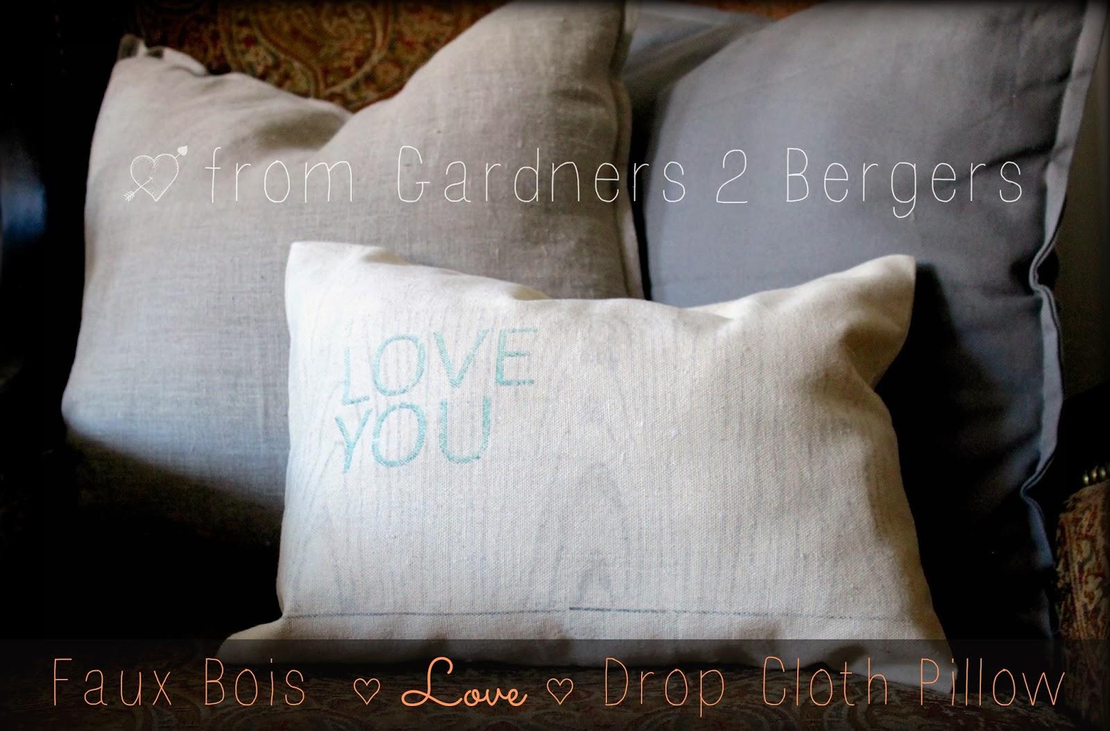 Faux-Bois-Love-Drop-Cloth-Pillow