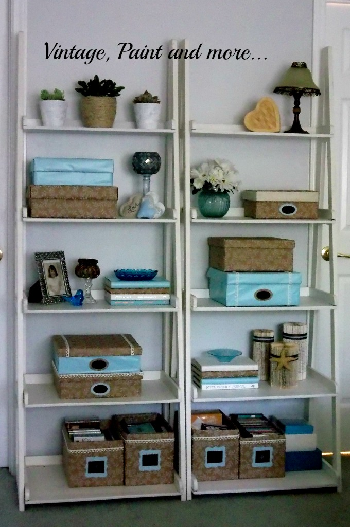 Vintage, Paint and more... decorative storage boxes, paper covered boxes as storage, pretty covered boxes for storage