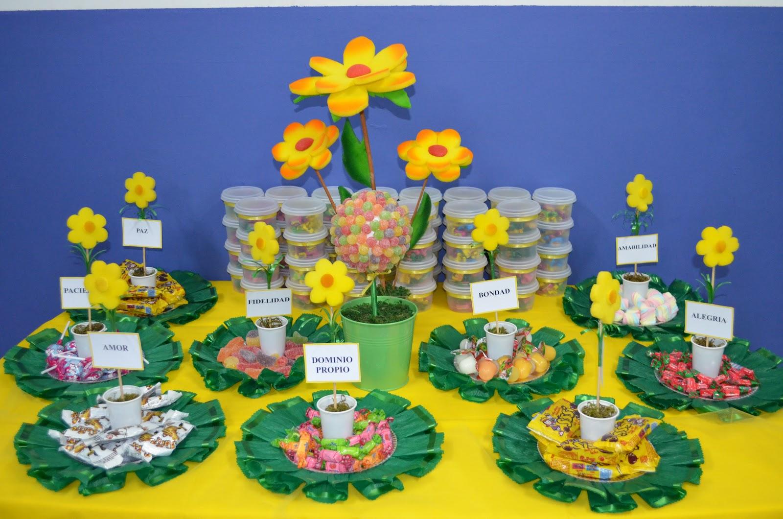 Ayudas para Maestras de Escuela Dominical: Mesa de los frutos del