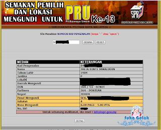 Semak Daftar Pemilih, Lokasi Mengundi PRU 13 Dan Cara Mengundi.
