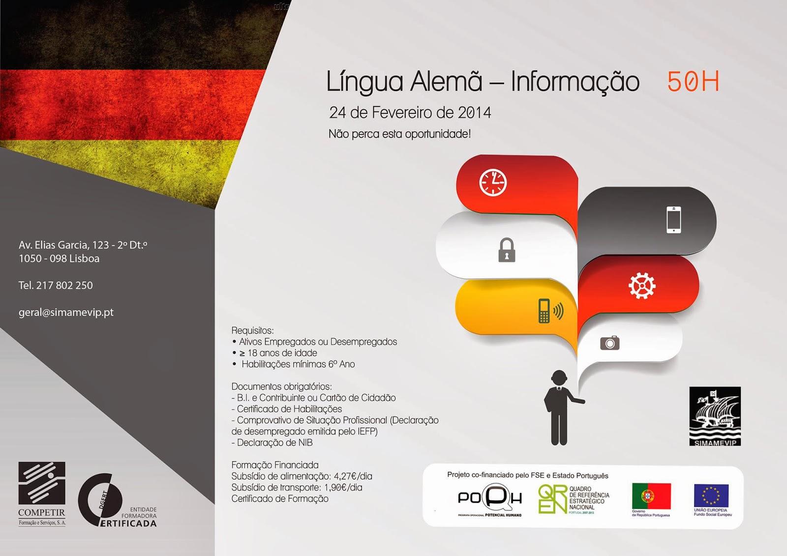 Formação modular gratuita: Língua Alemã (Informação) – Lisboa