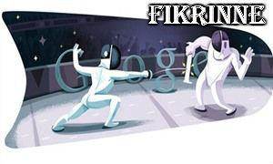 Londra 2012 eskrim Google Doodle,londra 2012 eskrim türk sporcuları ,2012 londra olimpiyatları eskrim altın madalya hangi ülke