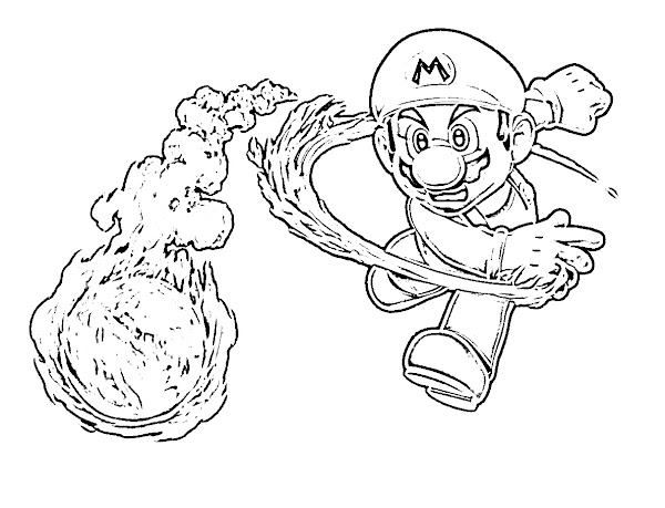 Free Mario Coloring Pages
