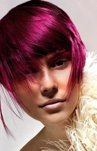 color fucsia para pelo corto