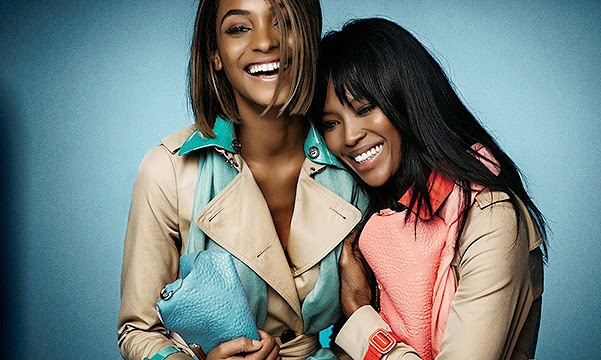 Naomi Campbell and Jourdan Dunn in the spring campaign Burberry