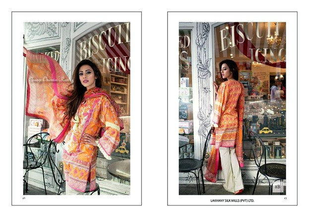 Farah Talib Aziz 'Garden Of Grace' Summer Collection 2015 By LSM Fabrics