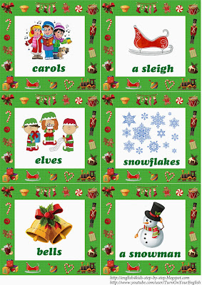 christmas fun song flashcards