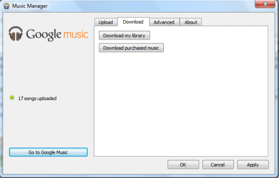 download my entire google music library