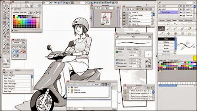Manga Studio EX 5.0.5 Win/Mac (Material + Sample)