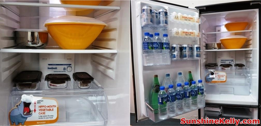 sharp, sharp Dual Swing Door Refrigerator, Plasmacluster, fridge, dual swing door fridge, household product, compartment
