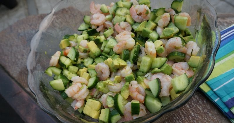 Mennonite Girls Can Cook: Shrimp, Avocado and Cucumber Salad