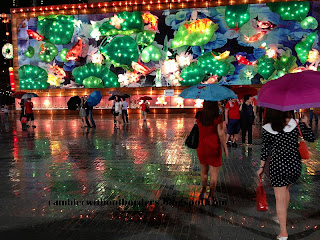 Lotus lantern pond screen, in the Float in 2013 Chinese New Year, Singapore