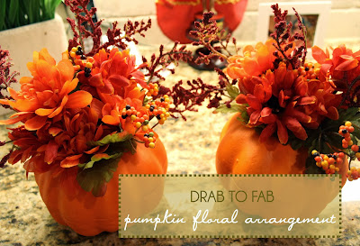 home sweet home: drab to fab pumpkin floral arrangement