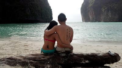 Thailand, ko phi phi, love, boyfriend, girlfriend, asian, beach, sunset