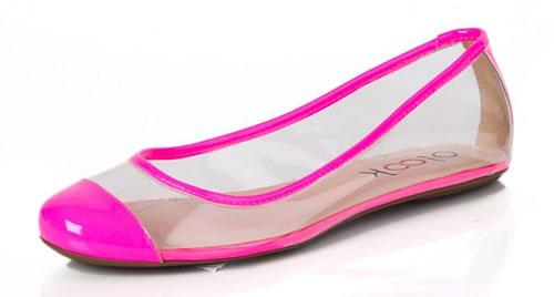 Sapatilhas translucidas rosa