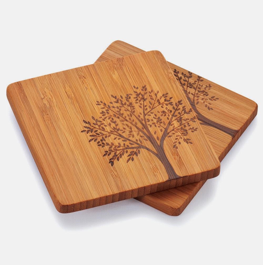 Posa vasos de bambú
