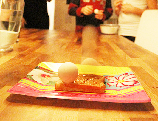 peanut butter and ping pong ball game