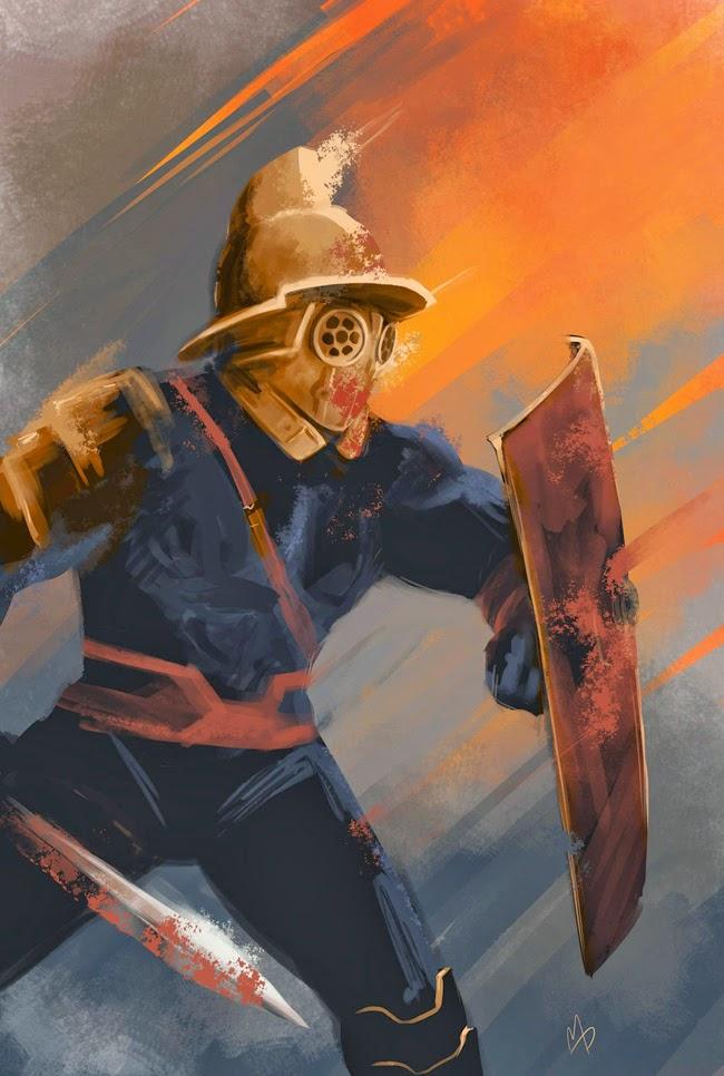 thraex icon 1 e la squadra alpha antro atomico del dottor manhattan illustrazione Manuel Preitano