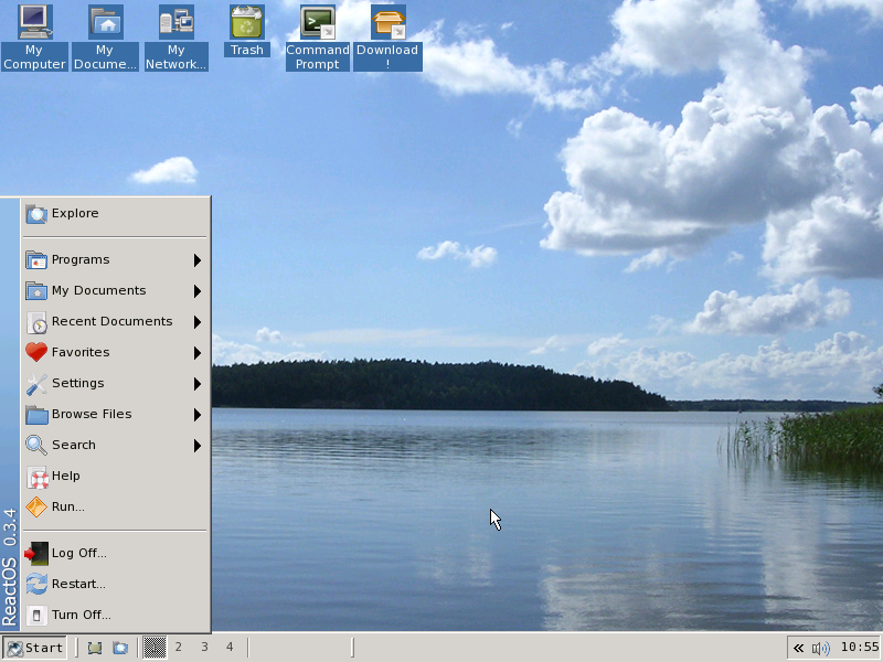 Screenshoot ReactOS