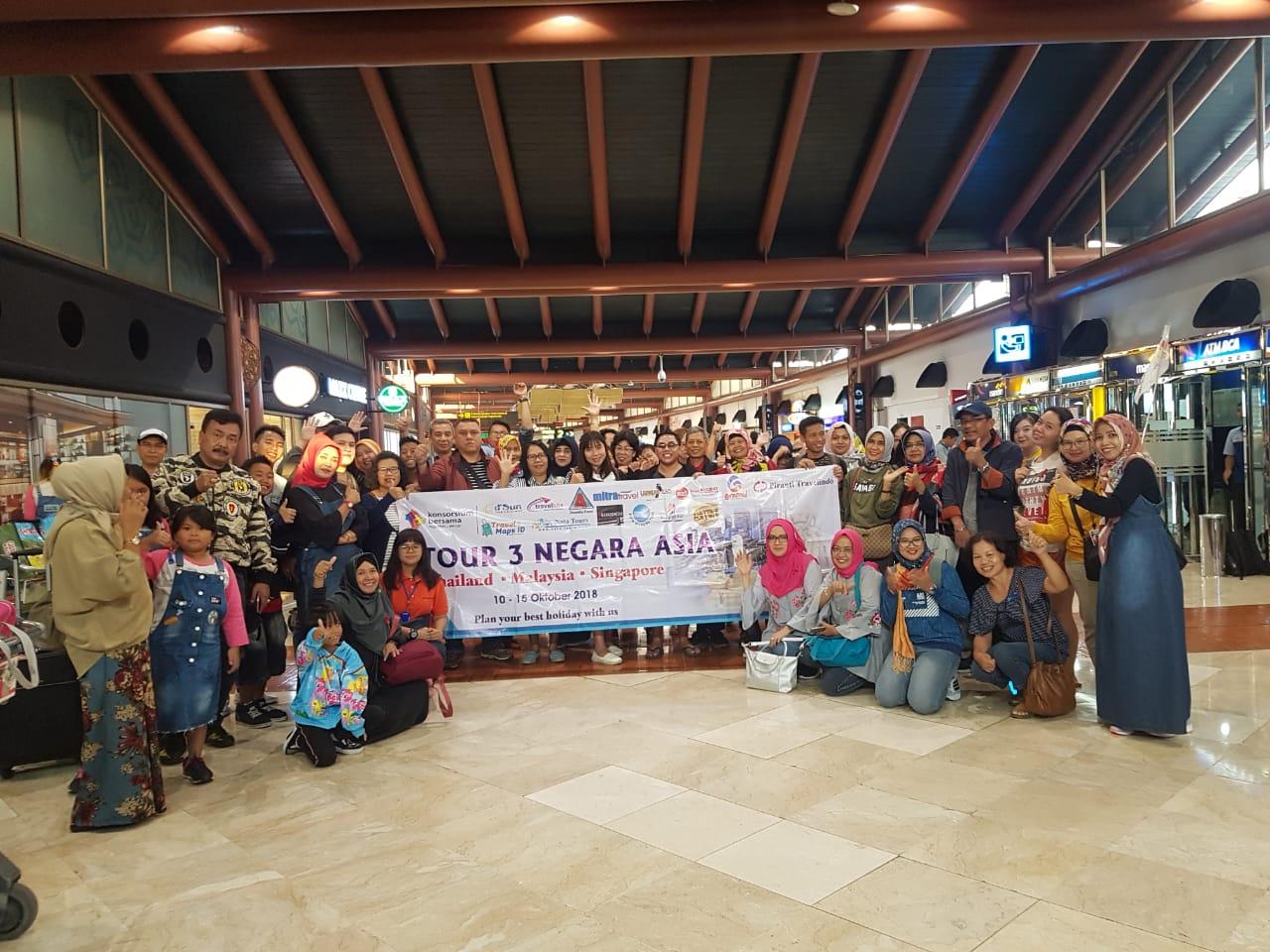 TOUR 3 NEGARA 10 - 15 OKT 2018