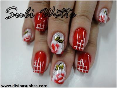 unhas decoradas carga dupla flores e botoes by suli witte1