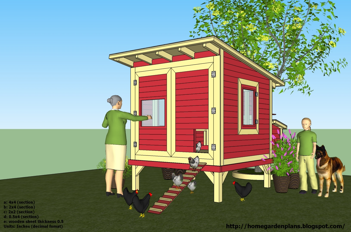 Home garden plans l300 chicken coop plans construction for Build as you go house plans