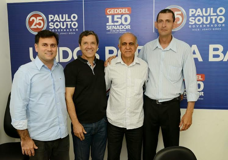SOUTO RECEBE APOIO DE LIDERANÇAS POLITICAS DE GENTIO DO OURO
