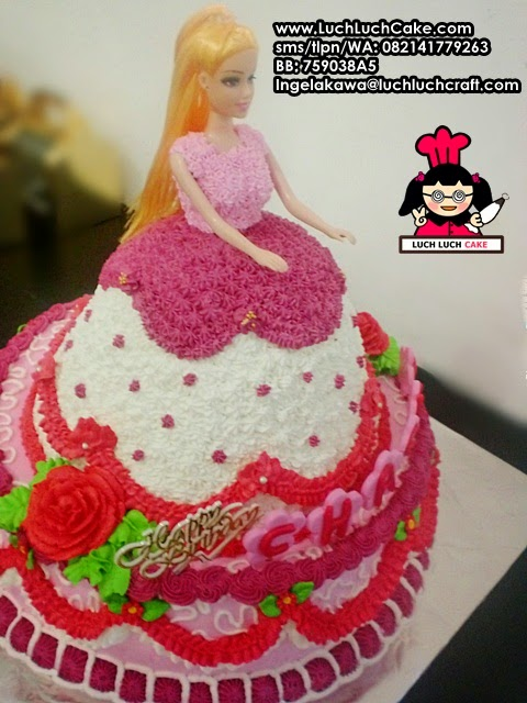 Kue Tart Ulang Tahun Princess Barbie surabaya - sidoarjo
