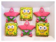 Estas galletas de Bob Esponja y su amigo Patricio, fueron un encargo de mi .