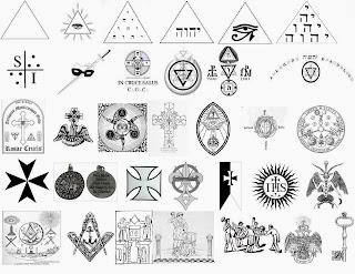 Símbolos de diversas escuelas iniciáticas