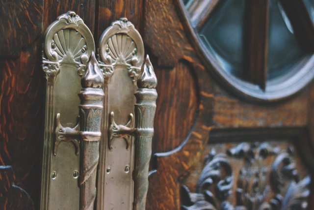 Old theatre door handles