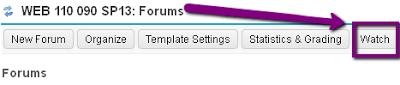 Forums watch button
