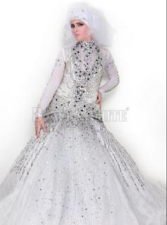 بالصور: فساتين زفاف محجبات 2014-2015