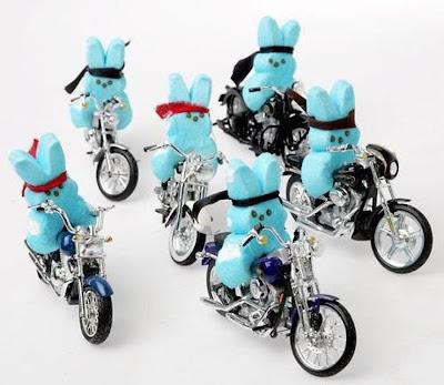 Bunny Peep Bikers