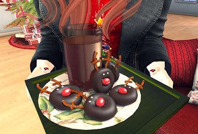 sari sari reindeer donut plate