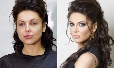 chica con cachetes grandes con maquillaje reductor