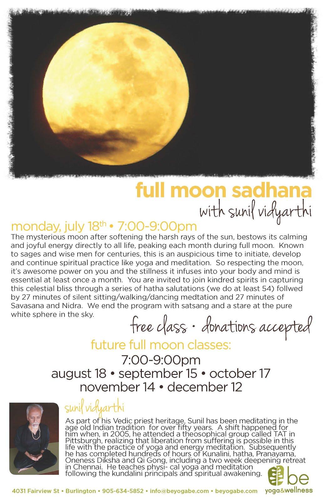 Full Moon Practice