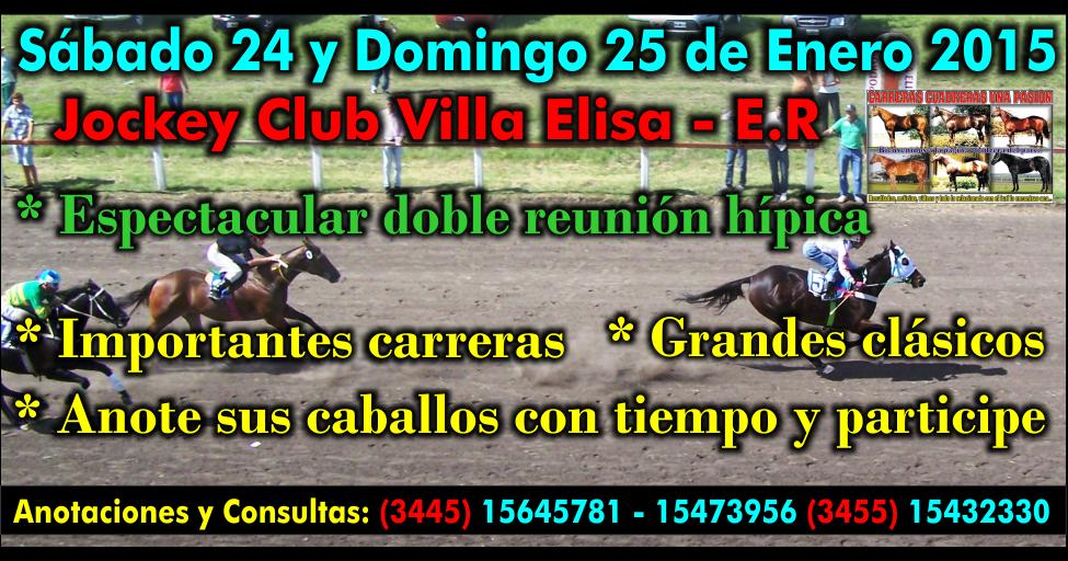 VILLA ELISA - REUNION 24 y 25.01.2015
