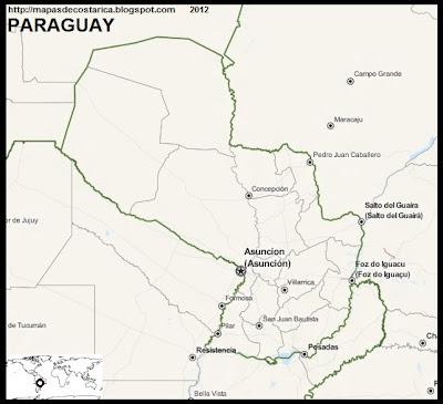 Mapa de PARAGUAY, OpenStreetMap
