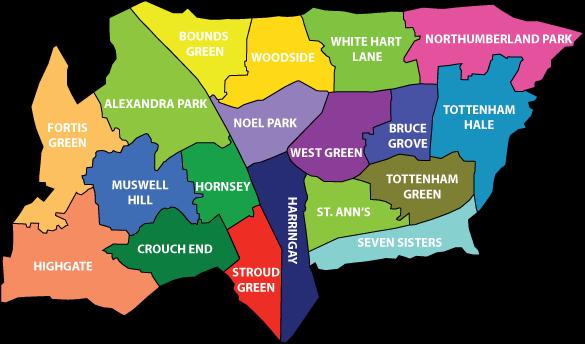 Haringey Map Region Political   Map of London Political Regional
