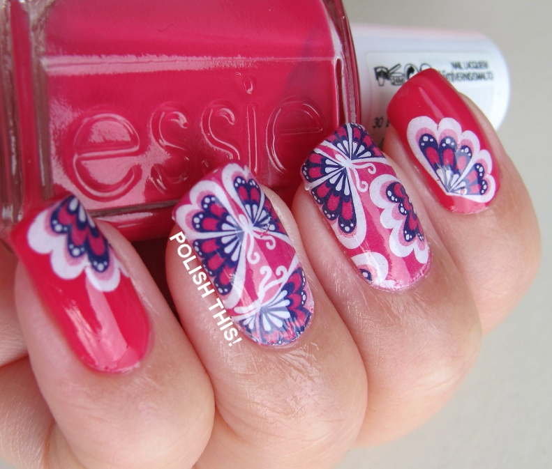 Essie Nail Appliques: BPS Water Decals With Essie Bachelorette Bash
