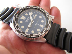 SEIKO DIVER 6309 7290 BLUE DIAL - WORLD TIME BEZEL - AUTOMATIC