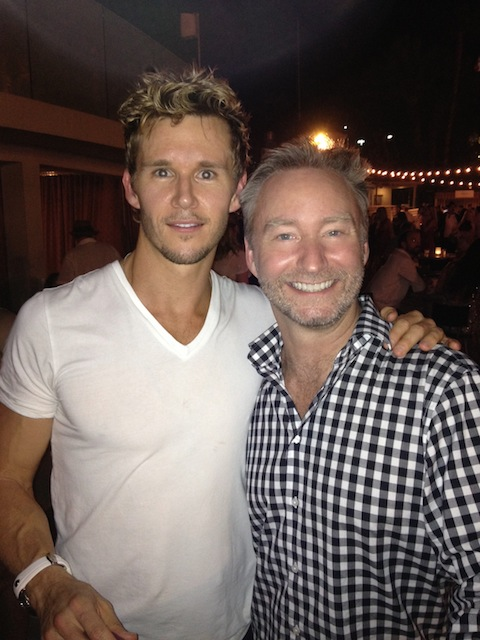 With Ryan Kwanten - only thing better would have been a shirtless Ryan Kwanten :)