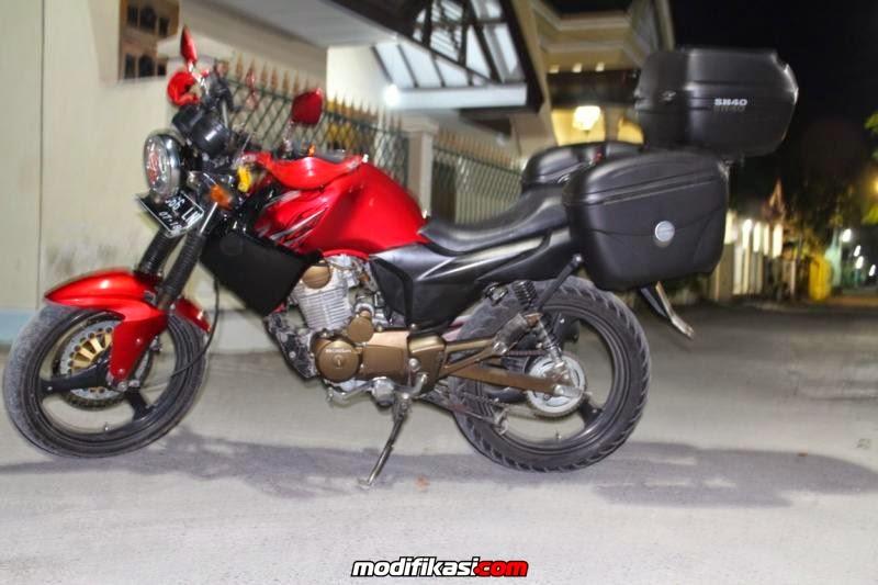 modifikasi motor yahama scorpio touring