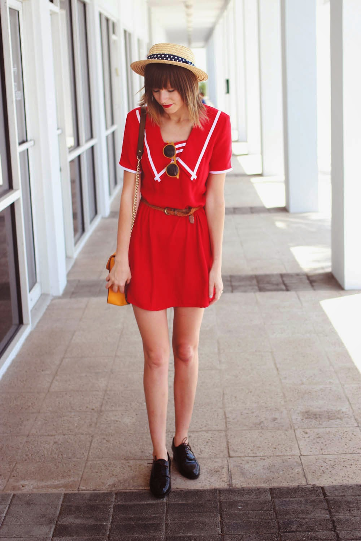 miami fashion blog, vintage dress