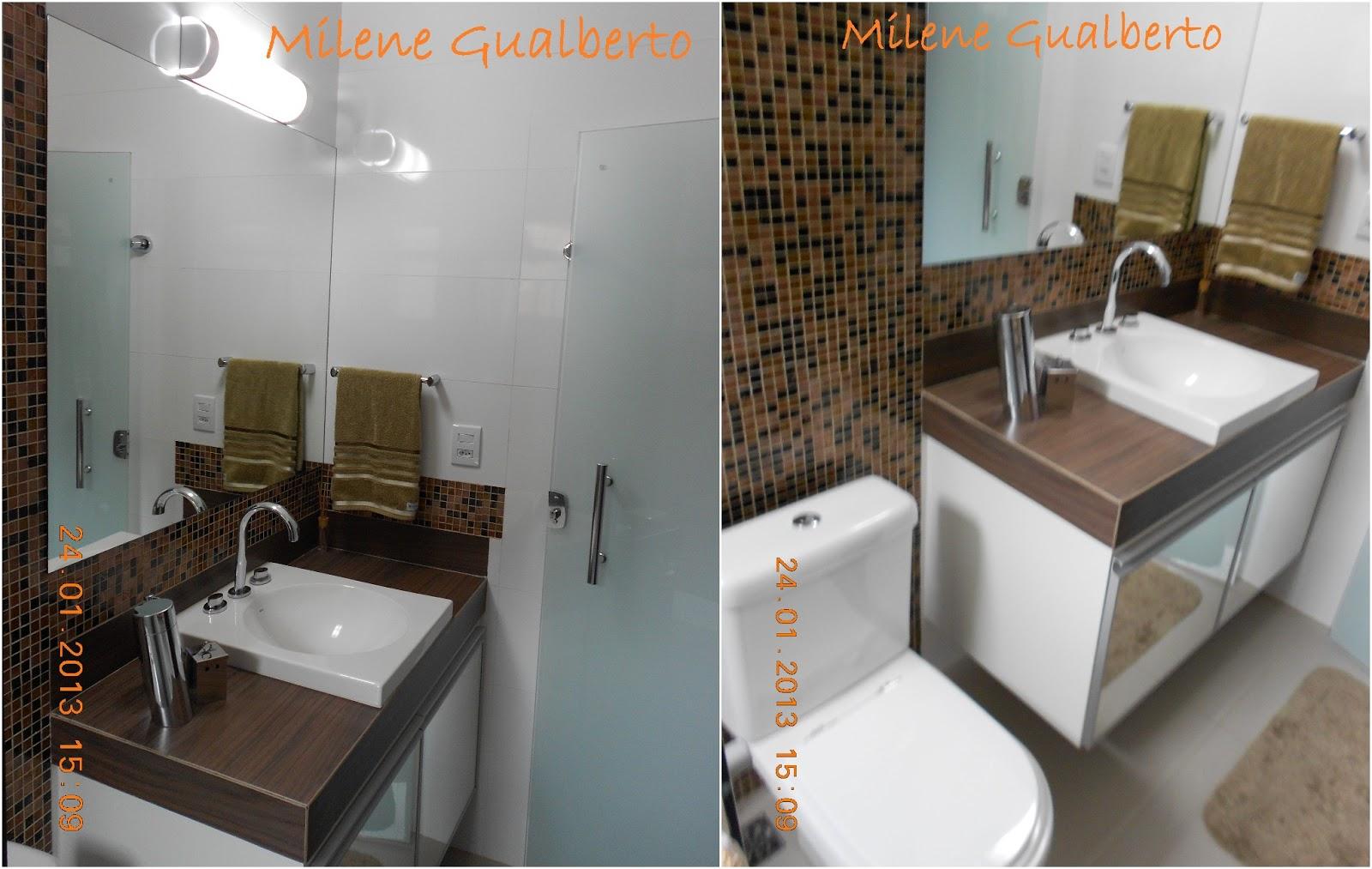 Banheiro Bancada porcelanato madeira  Milene Gualberto 02 horz.jpg #A45C27 1600x1013 Banheiro Bancada Porcelanato